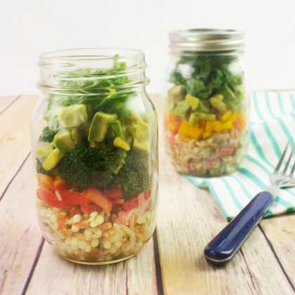 california roll mason jar salad